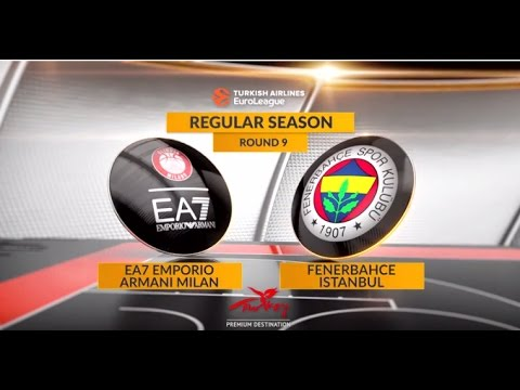 EuroLeague Highlights RS Round 9: EA7 Emporio Armani Milan 70-79 Fenerbahce Istanbul