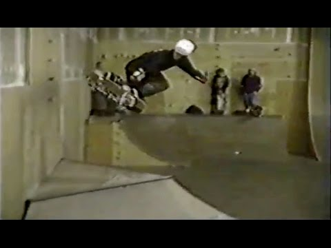 RARE CLASSIC JOHN CARDIEL FOOTAGE - 1992 - Ripping The Daily Grind Skatepark