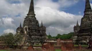Ancient Ruins Thailand Old Capital ( Ayuthaya)&Chiang Mai, Music By Small Village