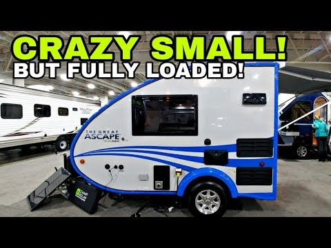 CRAZY COMPACT Fully Equipped RVs! ASCAPE Teardrop and A-Frame RVs