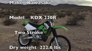2. Kawasaki KDX 220 First ride and Handle Bar talk.