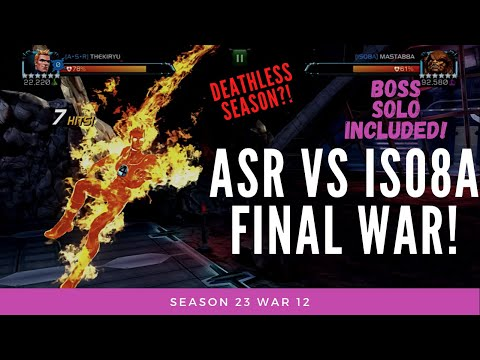 ASR vs ISO8A! Final War Of Season 23! Can I Finish This Season With 0 Deaths?! Have To Solo Boss!