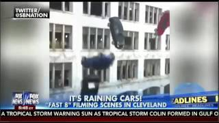 Video CARS Fall out of Buildings during Fast & Furious 8 Filming in Cleveland MP3, 3GP, MP4, WEBM, AVI, FLV Agustus 2017