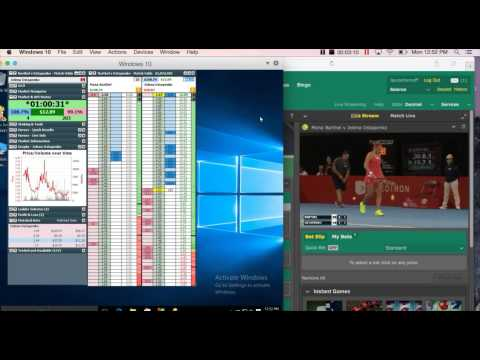 Tennis Trading On Betfair – $25 In 180 Seconds