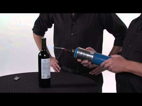How To Open Wine With A Blowtorch