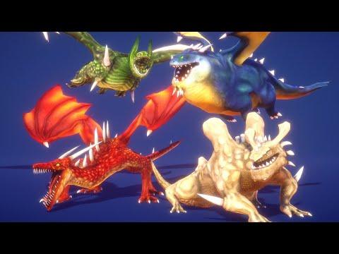 Four Evil Dragons Handpainted