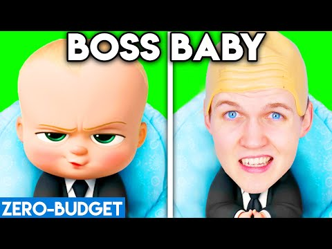 BOSS BABY WITH ZERO BUDGET! (BOSS BABY MOVIE PARODY BY LANKYBOX!)