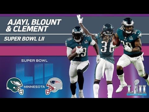 Ajayi, Blount & Clement Rack Up 255 Yards! | Eagles vs. Patriots | Super Bowl LII Player Highlights (видео)