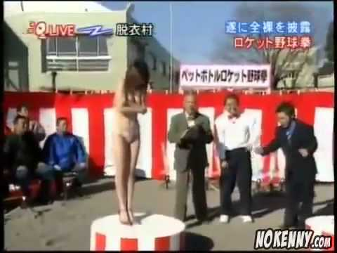 日本變態節目  : 猜拳輸了後內衣火箭式升天