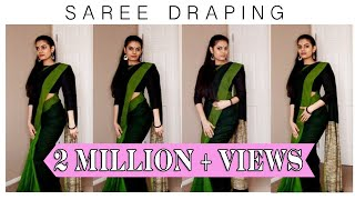 Video How to drape a saree | Cotton saree MP3, 3GP, MP4, WEBM, AVI, FLV Mei 2018