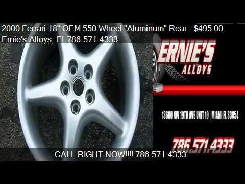 """2000 Ferrari 18″ OEM 550 Wheel """"Aluminum"""" Rear 18″ x 10.5 –"""