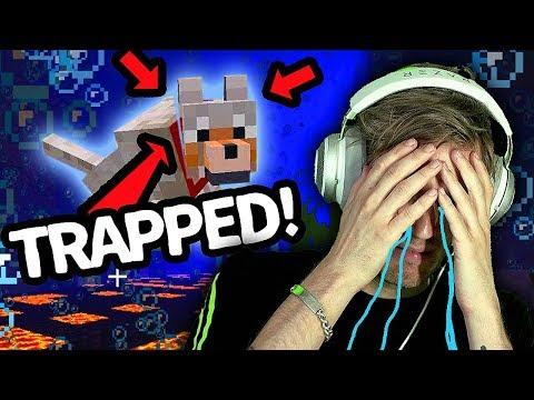 My minecraft Dog is TRAPPED underwater (HELP ME!!!) - Part 9