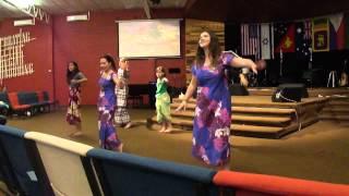 Australian Missions Team In Traditional Fijian Dance