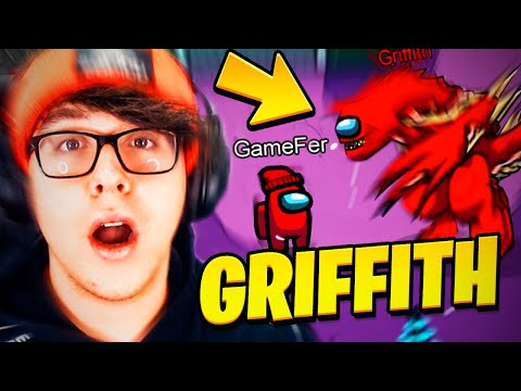 INVOCAMOS A GRIFFITH EL DRAGÓN IMPOSTOR EN AMONG US 😱😩 | Among Us Creepypasta | GAME FER