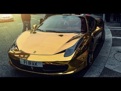 ferrari 458 spider in oro...stupenda