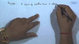 Mod-20 Lec-22 Comparison Tests For Series, Absolutely Convergent And Conditional Convergent Series