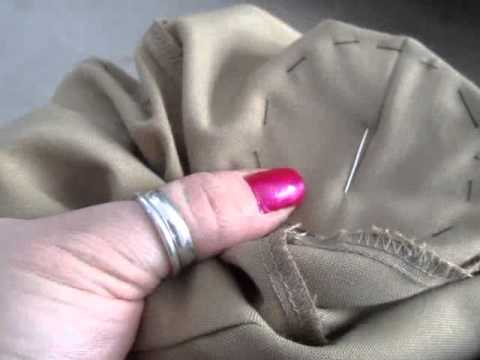 how to sew in a patch