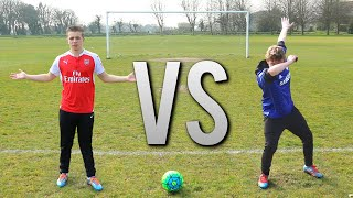 Harold & I go head to head in 5 football challenges... HARRY: https://www.youtube.com/user/wroetoshaw MERCH:...