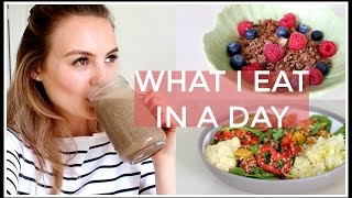 How I eat a healthy and plant based diet during a whole day.Buy Eat Smart http://smarturl.it/eat-smartSUBSCRIBE http://bit.ly/1iRMKtw SOCIAL MEDIABLOG / www.niomismart.comTWITTER / niomismartINSTAGRAM / niomismartFACEBOOK / niomismartSNAPCHAT / niomismartPINTEREST / niomismartEAT SMARTAMAZON http://smarturl.it/eat-smartWHSMITH http://bit.ly/2axg33sWATERSTONES http://smarturl.it/eatsmart-waterstonesiBOOKS http://smarturl.it/eat-smart-ibookAUS & NZ http://smarturl.it/eatsmart-anzSourcedBoxhttp://www.sourcedbox.comFASHION, BEAUTY AND ITEMSWater Filter - Amazon http://bit.ly/2roVYXAWater Infuser Bottle http://bit.ly/2rD8z74N Mug - Next http://bit.ly/2oiFlaLEat Smart http://smarturl.it/eat-smartStripe Top - Next http://bit.ly/2roTB7oProtein Powder - Form https://formnutrition.com/NutriBullet http://bit.ly/2nPNwzFRestaurant - Farmacy DISCLAIMERThis video is not sponsored. All opinions are my own.Thank you for watching!