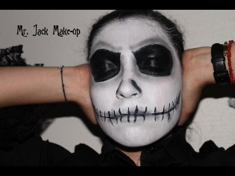 Tutoriel maquillage : Mr Jack/ Jack Skellington de l'Etrange Noël de Mr Jack!