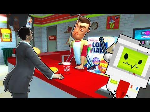 Garrys Mod - GETTING JOBS AT A SPOOKY GAS STATION?! (Garry's Mod Gameplay Gmod Roleplay) Job Simulator in Gmod!