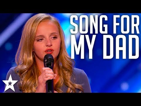 Evie Clair Sings A Song For Her Dad Battling Cancer | America's Got Talent 2017