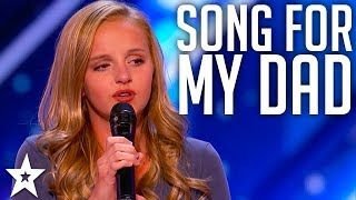 Video Evie Clair Sings A Song For Her Dad Battling Cancer | America's Got Talent 2017 MP3, 3GP, MP4, WEBM, AVI, FLV Maret 2019