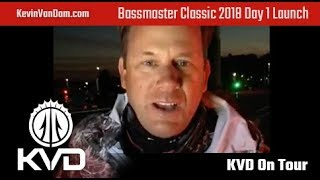 KVD - Bassmaster Classic Day 1- Launch
