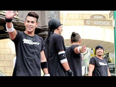 AMAZING STREET DANCE PERFORMANCE: Rockafellas Streetboys @ Universal Studios Singapore 2015.