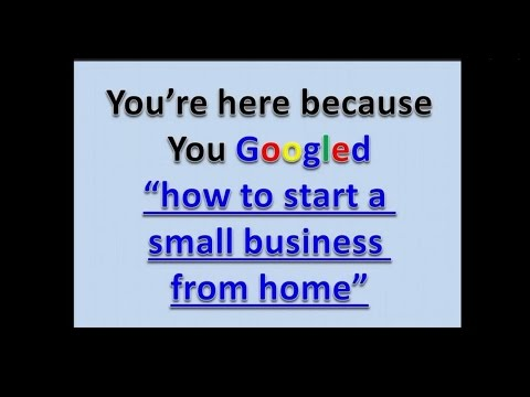 How to start a small business from home | profitable startups 2014