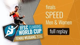 IFSC Climbing World Cup Wujiang 2016 - Speed - Finals - Men/Women by International Federation of Sport Climbing