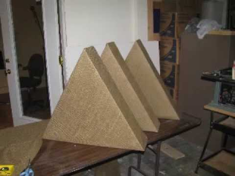 Small Studio Acoustic Treatment, Bass Traps, Acoustic Panels.