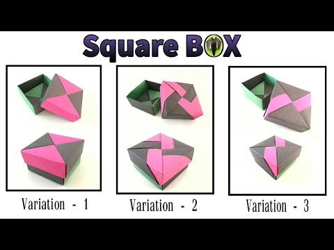 Square Gift Box With Lid 3 Variations By Tomoko Fuse DIY Modular Origami Tutorial 817
