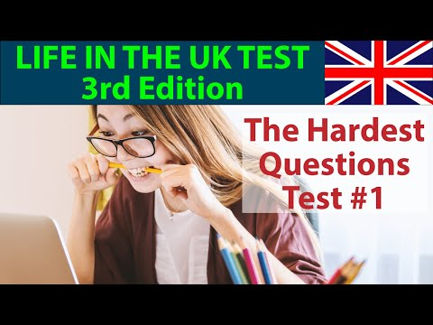 LIFE IN THE UK TEST 2020 (3rd EDITION) - THE HARDEST QUESTIONS - PART 1