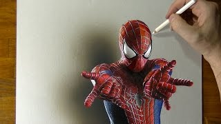 Video Amazing Spider-Man Drawing - How to draw 3D Art MP3, 3GP, MP4, WEBM, AVI, FLV Februari 2019