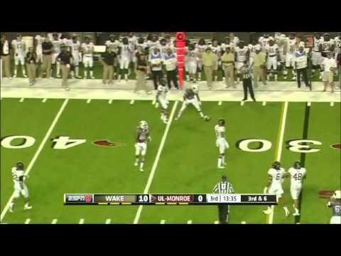 Kevin Johnson Game Highlights vs Louisiana-Monroe 2014 video.