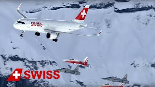 You may have seen our formation flight with the Airbus A320 together with Patrouille Suisse at the Ski World Cup Lauberhorn...