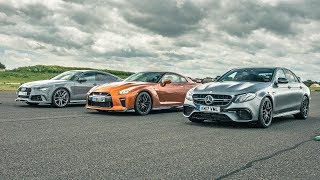 Nissan GT-R vs Audi RS7 vs Merc E63 AMG – Drag Races – Top Gear