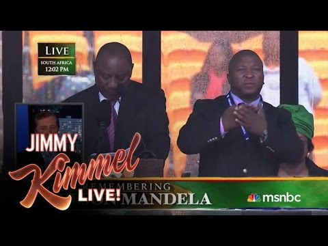 Sign Language Interpreter Translates Mandela Memorial Imposter s