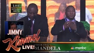 Sign Language Interpreter Translates Mandela Memorial Impostor