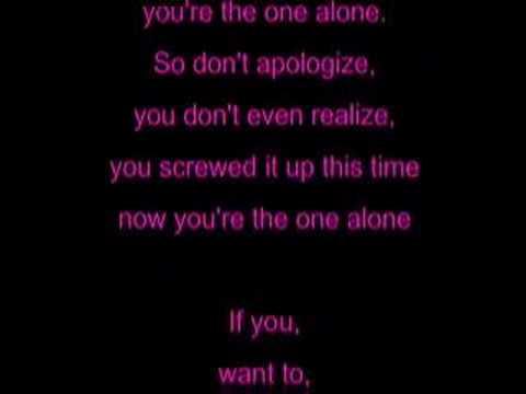 Alone- Avril Lavigne- Lyrics