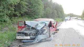 Жесткие аварии Июня 2016 4я неделя