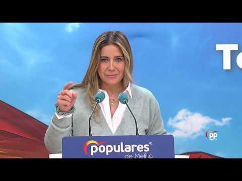 """Acedo: """"Cuando el PSOE gobierna, las cuestiones que son básicas para los melillenses dejan de estar garantizas""""."""