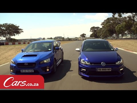 drag race: vw golf 7r vs subaru wrx sti