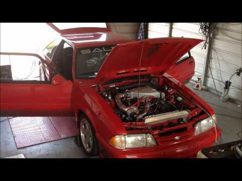 ajms - Real 1993 Saleen #86 Fox Mustang with a JMS Boss 347ci Engine = 534rwhp on 93 octane!! TFS Track Heat Heads and Intake TFS Stage 1 Cam Vortech V1 S-Trim @ 10...