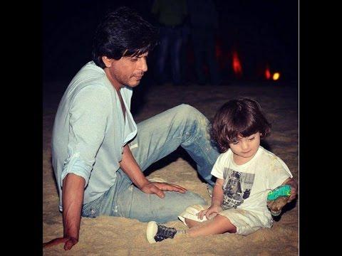 Shah Rukh & AbRam Enjoy Shoots At The Set Of 'Tube