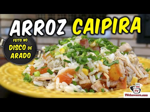 Arroz Caipira no Disco de Arado (Paella Caipira) - TvChurrasco