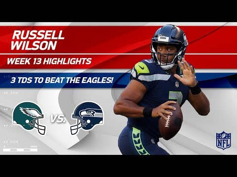 Video: Russell Wilson's Explosive Night w/ 3 TDs vs. Philly! | Eagles vs. Seahawks | Wk 13 Player HLs