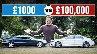 £1000 Luxury Car VS £100,000 Luxury Car! by Car Throttle