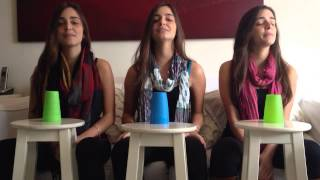Trigêmeas cantando - All about that bass - cup version